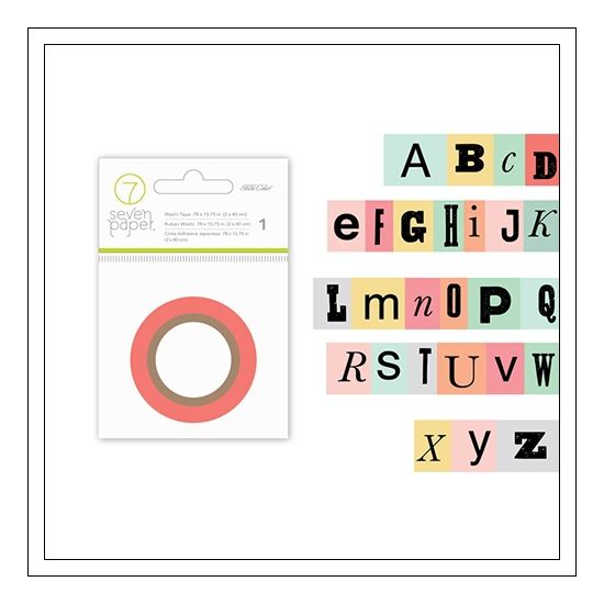 Studio Calico Cardstock Washi Tape Alphabet Seven Paper Clara Collection