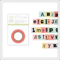 Studio Calico Cardstock Washi Tape Alphabet Seven Paper Clara Collection