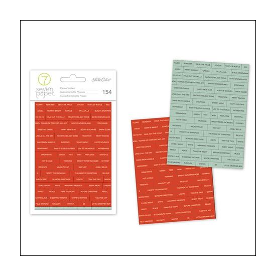 Studio Calico Phrase Stickers Seven Paper Felix Collection