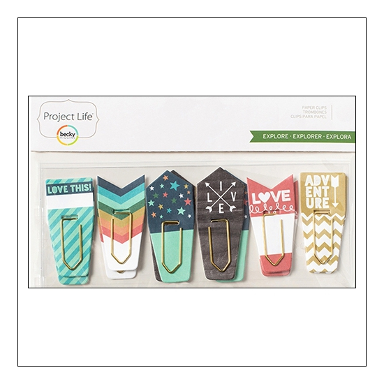 American Crafts Project Life Paperclips with Die Cut Accents Explore Edition