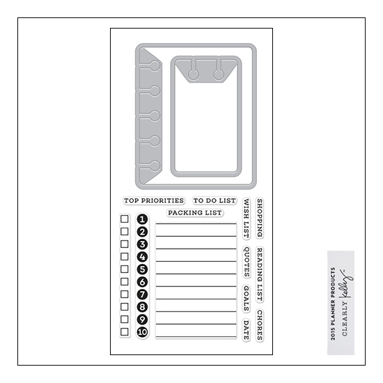 Hero Arts Kellys To Do List Stamp and Cut 2015 Planner Products Collection by Kelly Purkey