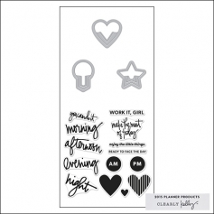 Hero Arts Kellys Everyday Clips Stamp and Cut 2015 Planner Products Collection by Kelly Purkey