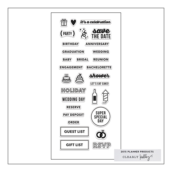 Hero Arts Clear Stamps Kellys Occasion Planner 2015 Planner Products Collection by Kelly Purkey