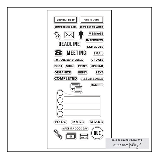 Hero Arts Clear Stamps Kellys Work Planner 2015 Planner Products Collection by Kelly Purkey