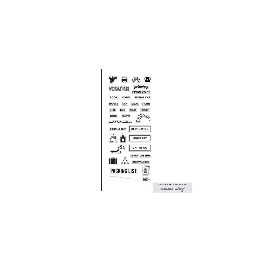foto de Hero Arts Clear Stamps Kellys Travel Planner 2015 Planner Products ...
