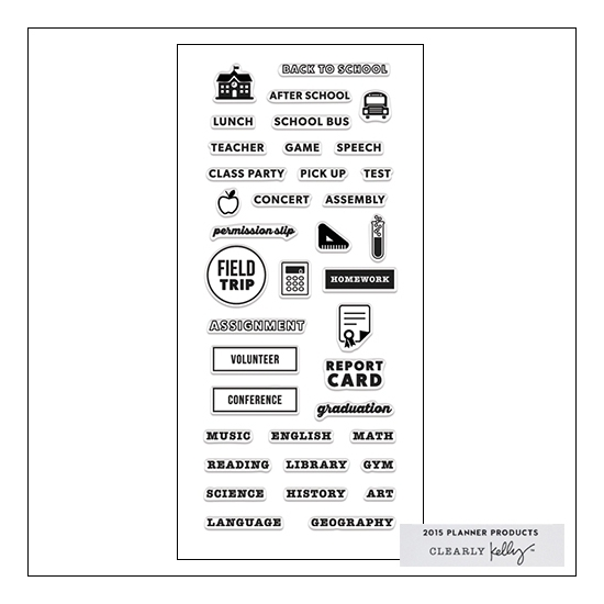 Hero Arts Clear Stamps Kellys School Planner 2015 Planner Products Collection by Kelly Purkey