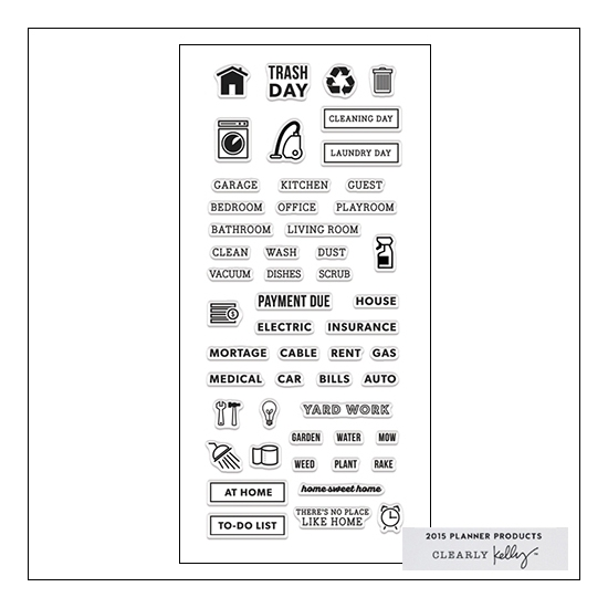 Hero Arts Clear Stamps Kellys Home Planner 2015 Planner Products Collection by Kelly Purkey