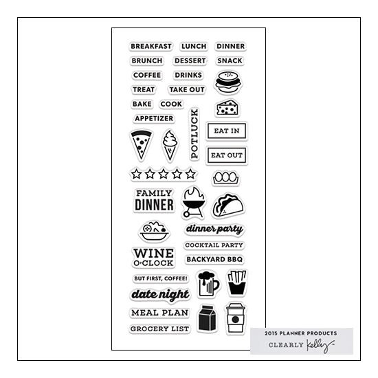 Hero Arts Clear Stamps Kellys Food Planner 2015 Planner Products Collection by Kelly Purkey