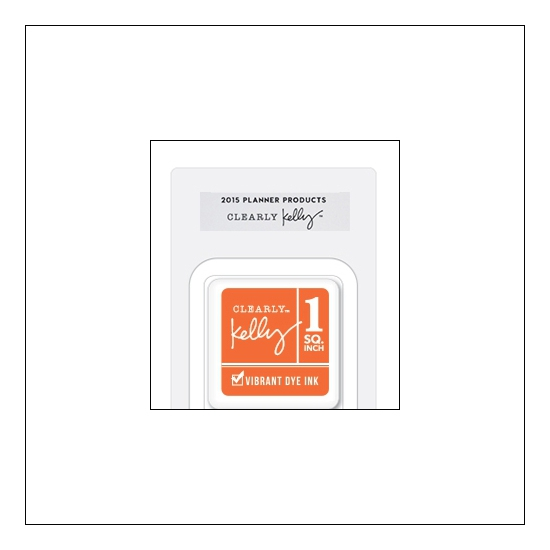 Hero Arts Square Dye Ink Cube Orange Kellys Fashion Planner 2015 Planner Products Collection by Kelly Purkey