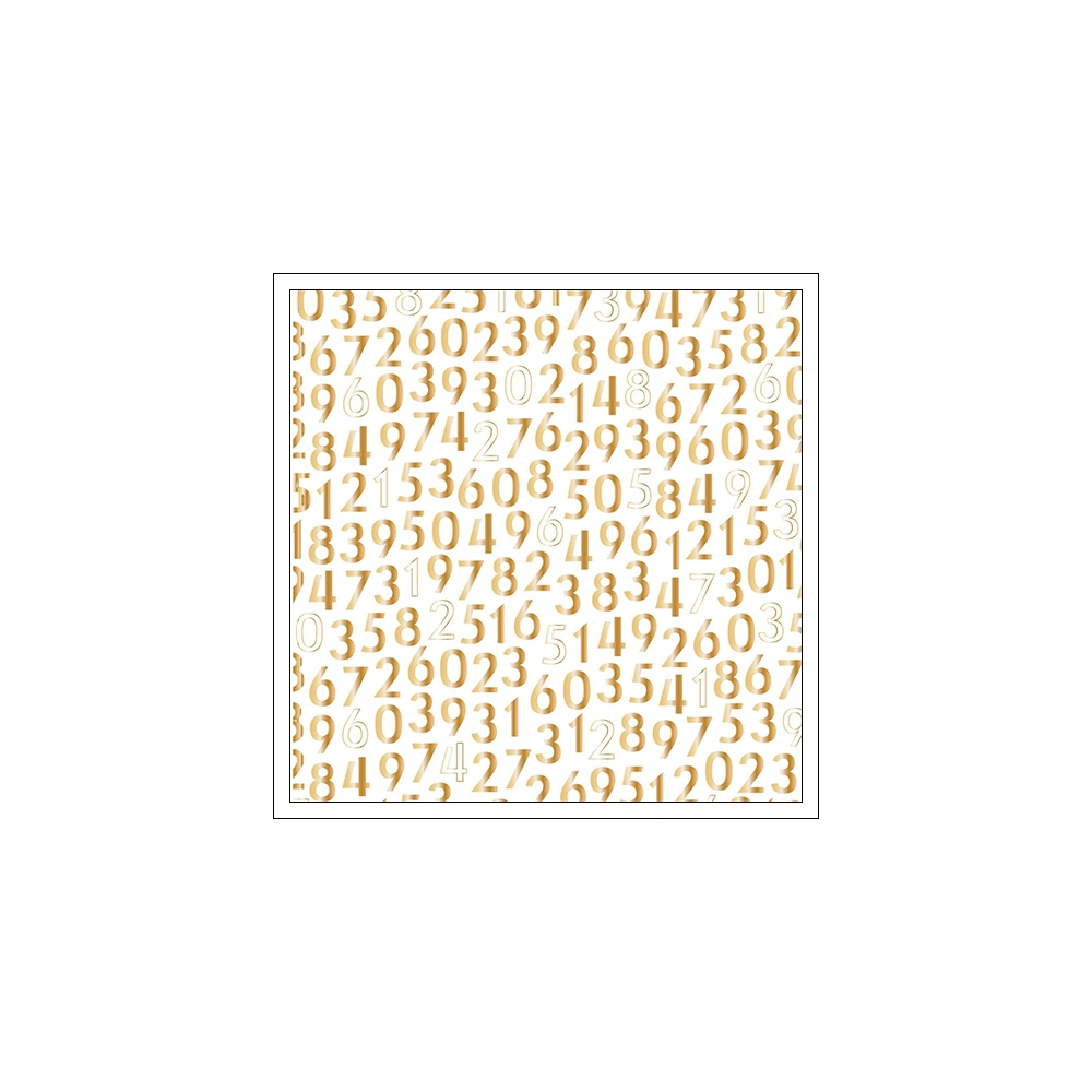 American Crafts Specialty Paper Transparent Sheet Gold Foil Best Five Minutes Documentary Collection by Dear Lizzy