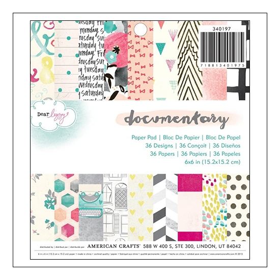 American Crafts Paper Pad 6x6 inches Documentary Collection by Dear Lizzy