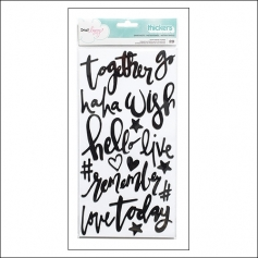 American Crafts Thicker Stickers Snapshots Phrases Black Foam Documentary Collection by Dear Lizzy