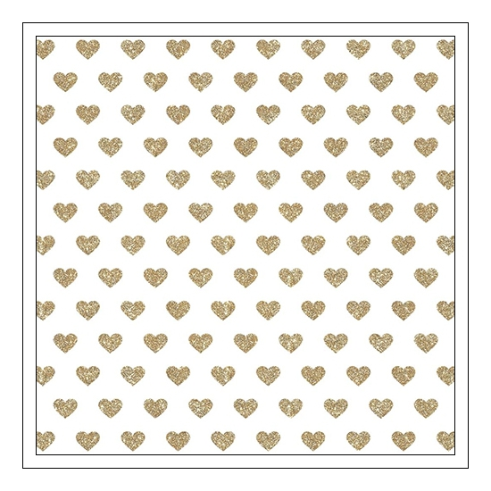 Crate Paper Specialty Paper Transparent Sheet Gold Glitter Happy Heart Shine Collection by Maggie Holmes