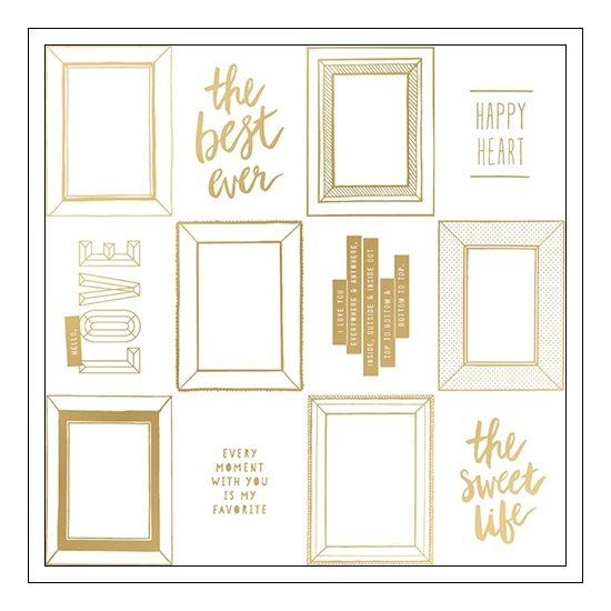 Crate Paper Specialty Paper Transparent Sheet Gold Foil Golden Shine Collection by Maggie Holmes