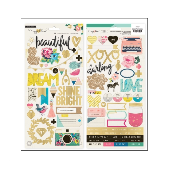 Crate Paper Accent Stickers Shine Collection by Maggie Holmes