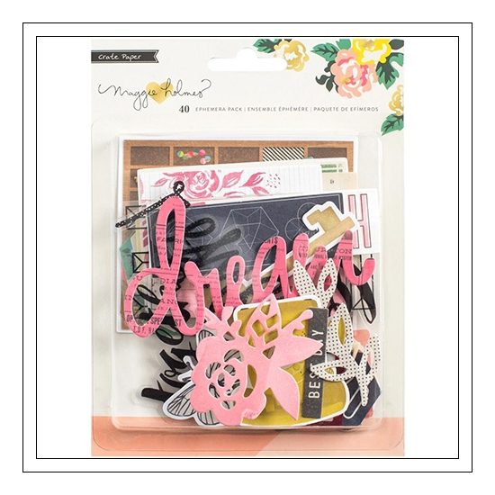 Crate Paper Ephemera Pack Shine Collection by Maggie Holmes