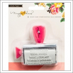 Crate Paper Roller Rotary Stamp Shine Collection by Maggie Holmes
