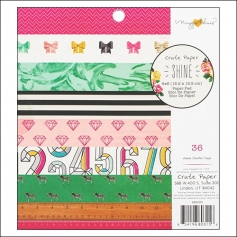 Crate Paper Paper Pad 6x6 inches Shine Collection by Maggie Holmes