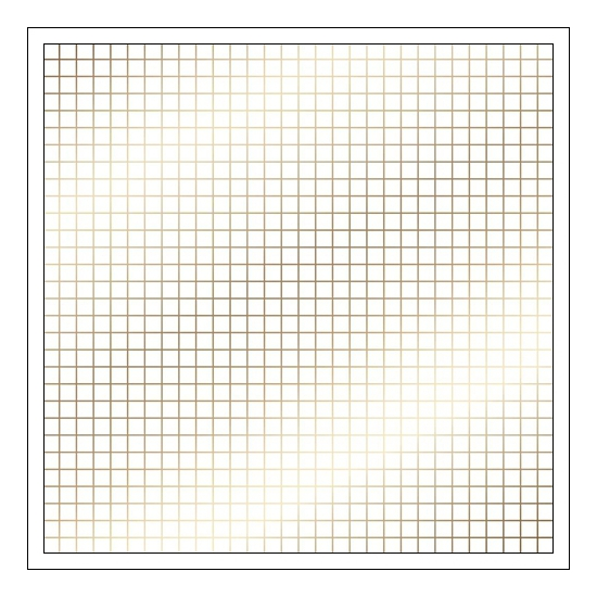 American Crafts Specialty Paper Transparent Sheet Gold Foil Grid DIY Shop 3 Collection