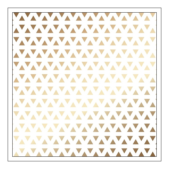 American Crafts Specialty Paper Transparent Sheet Gold Foil Triangles DIY Shop 3 Collection