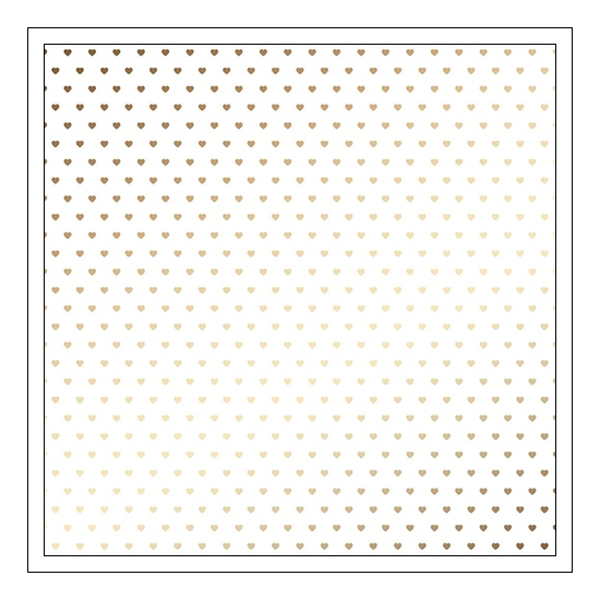 American Crafts Specialty Paper Vellum Sheet Gold Foil Hearts DIY Shop 3 Collection
