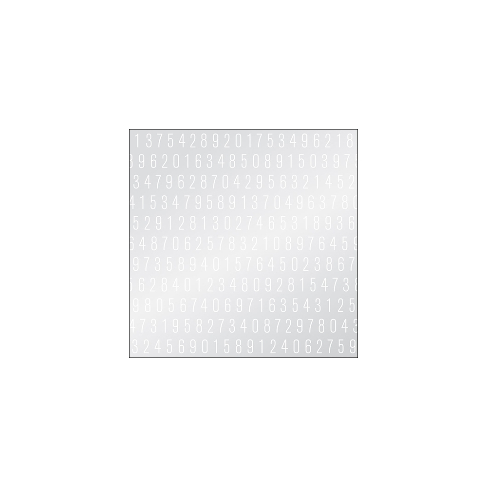 American Crafts Vellum Paper Sheet White Numbers DIY Shop 3 Collection