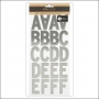 American Crafts Large Alphabet Stickers Silver Foil DIY Shop 3 Collection