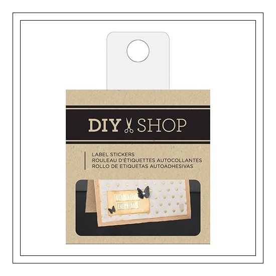 American Crafts Kraft Label Stickers DIY Shop 3 Collection