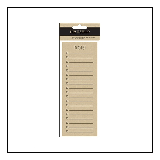 American Crafts Kraft Notepad Sheets To Do List DIY Shop 3 Collection