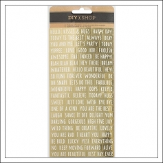 American Crafts Word Fetti Sticker Sheet Gold Foil DIY Shop 3 Collection