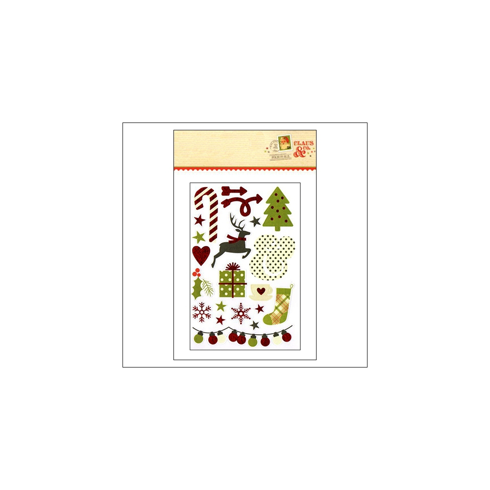 Simple Stories Sticker Sheet Christmas Claus and Co Collection