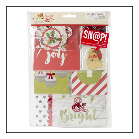 Simple Stories Snap Pack Christmas Claus and Co Collection