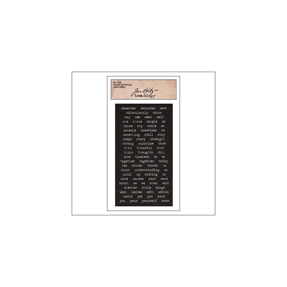 Advantus Big Chat Cardstock Sticker Sheet Black by Tim Holtz Idea-ology