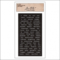 Advantus Big Chat Cardstock Sticker Sheet Black by Tim Holtz Idea-ology