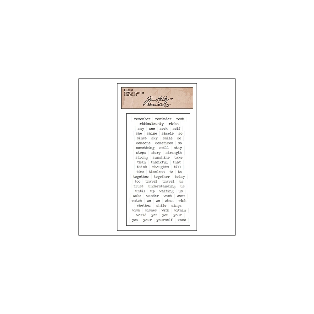 Advantus Big Chat Cardstock Sticker Sheet White by Tim Holtz Idea-ology