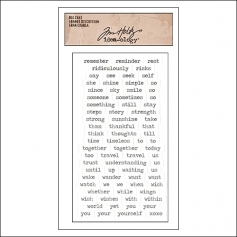 Advantus Big Chat Cardstock Sticker Sheet White by Tim Holtz Idea-ology