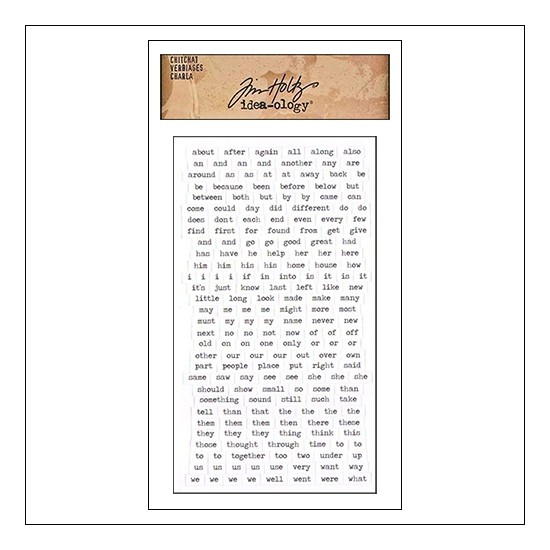 Advantus ChitChat Cardstock Sticker Sheet White Verbiages by Tim Holtz Idea-ology