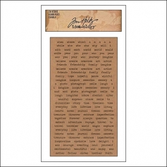 Advantus ChitChat Cardstock Sticker Sheet Kraft Verbiages by Tim Holtz Idea-ology