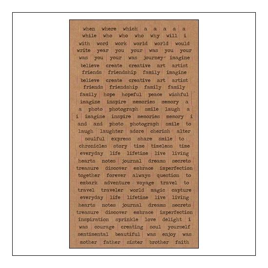 Advantus ChitChat Cardstock Sticker Sheet Kraft Verbiages by Tim Holtz Idea-ology