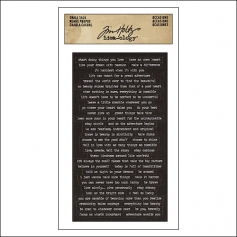 Advantus Small Talk Cardstock Sticker Sheet Black by Tim Holtz Idea-ology