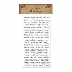 Advantus ChitChat Cardstock Sticker Sheet White Seasonal by Tim Holtz Idea-ology