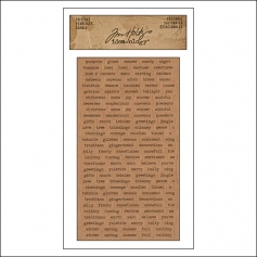 Advantus ChitChat Cardstock Sticker Sheet Kraft Seasonal by Tim Holtz Idea-ology