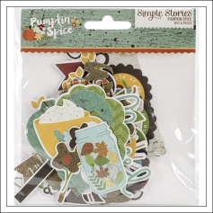 Simple Stories Ephemera Bits and Pieces Pumpkin Spice Collection