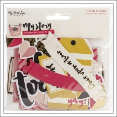 My Minds Eye Die Cuts Mixed Bag Gold Foil Accents My Story Collection by Dani Mogstad