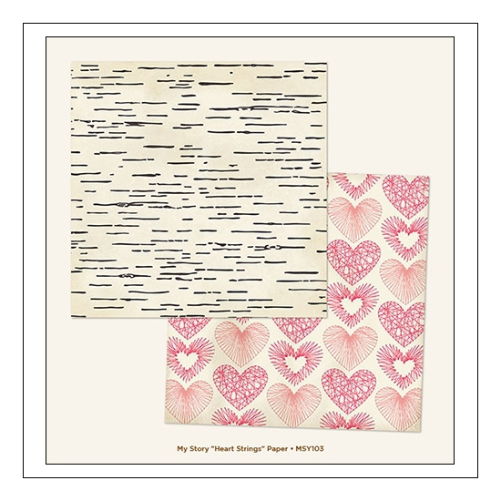 My Minds Eye Cardstock Paper Sheet Heart Strings My Story Collection by Dani Mogstad
