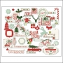 My Minds Eye Die Cuts Mixed Bag Red Glitter Accents Cozy Christmas Collection by Celeste Knight