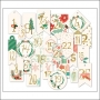 My Minds Eye Advent Tags Gold Foil Accents Christmas on Market Street Collection by Jen Allyson