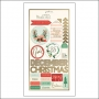 My Minds Eye Cardstock Stickers Gold Foil Accents Christmas on Market Street Collection by Jen Allyson