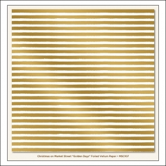 My Minds Eye Specialty Vellum Paper Gold Foil Stripes Golden Days Christmas on Market Street Collection by Jen Allyson
