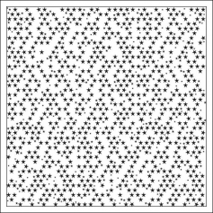 Bella Blvd Transparency Sheet Clear Cut Black Stars Clear Cuts